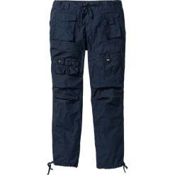 Spodnie bojówki Loose Fit bonprix ciemnoniebieski. Niebieskie bojówki męskie marki bonprix. Za 79,99 zł.