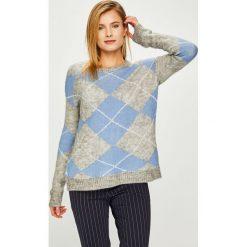 Answear - Sweter. Szare swetry klasyczne damskie marki ANSWEAR, l, z poliesteru, z długim rękawem, długie. Za 149,90 zł.