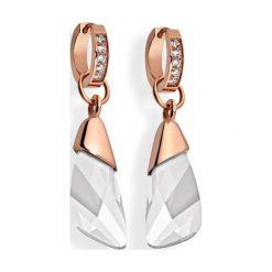 Biżuteria i zegarki: Pozłacane kolczyki z kryształami Swarovski