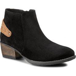 Botki FILIPE - 7789 Ca Preto 9999. Czarne buty zimowe damskie Filipe, z materiału, na obcasie. W wyprzedaży za 229,00 zł.