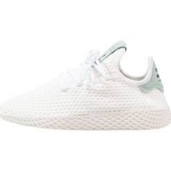 Adidas Originals PW TENNIS HU Tenisówki i Trampki footwear white/tactile green. Białe tenisówki męskie adidas Originals, z materiału. W wyprzedaży za 263,20 zł.