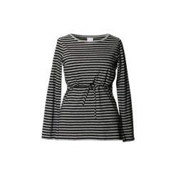Bluzki ciążowe: BOOB Bluzka dla kobiet w ciąźy i karmiących PATTI greymelange/black