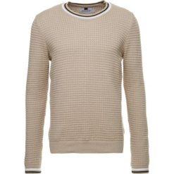 Topman PIMPLE CREW   Sweter stone. Szare koszulki polo Topman, m, z bawełny. Za 189,00 zł.