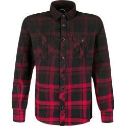 Koszule męskie na spinki: RED by EMP Checked Dip Dye Shirt Koszula czarny/czerwony