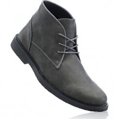Kozaki sznurowane bonprix ciemnoszary. Czarne buty zimowe męskie marki bonprix, tenisowe. Za 129,99 zł.