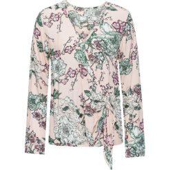 Bluzki damskie: Bluzka w kwiatowy wzór bonprix jasnoróżowy z nadrukiem
