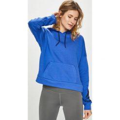 Reebok - Bluza. Szare bluzy z kapturem damskie Reebok, l, z nadrukiem, z bawełny. Za 229,90 zł.