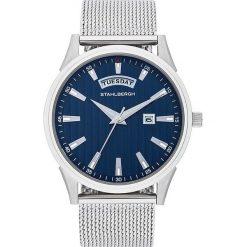 """Biżuteria i zegarki: Zegarek kwarcowy """"Varberg II"""" w kolorze srebrno-granatowym"""