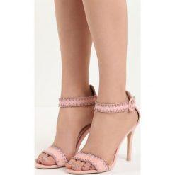 Różowe Sandały Holy Grail. Czerwone sandały damskie Born2be, z materiału, na wysokim obcasie, na obcasie. Za 69,99 zł.