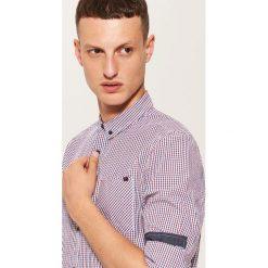 Koszula slim fit z kieszonką - Wielobarwn. Szare koszule męskie slim marki House, l, z bawełny. Za 79,99 zł.