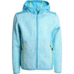 CMP GIRL FIX HOOD JACKET Kurtka z polaru anice/ocean. Niebieskie kurtki chłopięce przeciwdeszczowe CMP, z materiału. Za 189,00 zł.