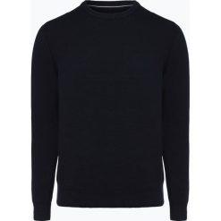 Marc O'Polo - Sweter męski, niebieski. Niebieskie swetry klasyczne męskie Marc O'Polo, l, z haftami, polo. Za 399,95 zł.