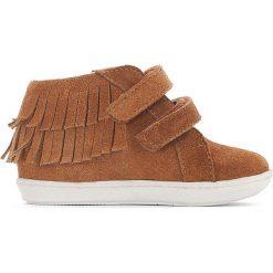 Trampki z frędzlami 19-25. Brązowe buty sportowe dziewczęce La Redoute Collections, ze skóry. Za 184,76 zł.