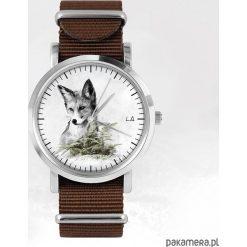 Zegarek - Lis - brązowy, nato. Brązowe zegarki męskie N/A. Za 111,00 zł.