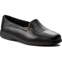 Creepersy damskie: Półbuty CLARKS - Georgia 002547937 Black Leather