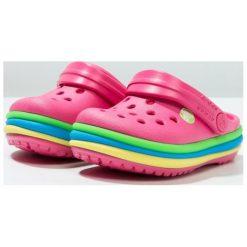 Crocs RAINBOW BAND Sandały kąpielowe paradise pink. Czarne sandały chłopięce marki Crocs, z materiału. Za 149,00 zł.