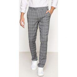 Spodnie slim w kratę. Szare chinosy męskie marki La Redoute Collections. Za 176,36 zł.