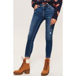 Jeansy skinny - Granatowy. Niebieskie rurki damskie House, z jeansu. Za 99,99 zł.