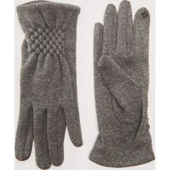 Rękawiczki z ozdobnym marszczeniem - Szary. Czarne rękawiczki damskie marki KIPSTA, z poliesteru, do piłki nożnej. Za 29,99 zł.