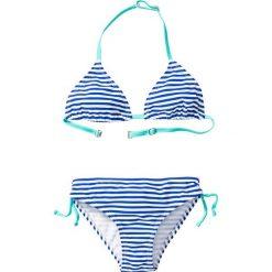Stroje dwuczęściowe dziewczęce: Bikini dziewczęce (2 części) bonprix niebiesko-biały