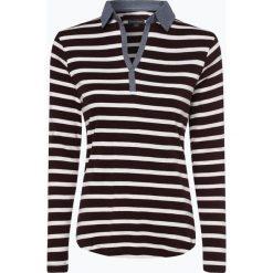 Franco Callegari - Damska koszulka z długim rękawem, brązowy. Zielone t-shirty damskie marki Franco Callegari, z napisami. Za 49,95 zł.
