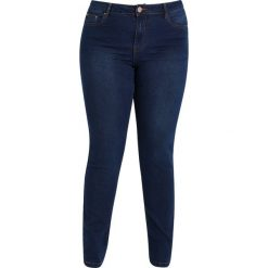 Lost Ink Plus LICORICE Jeansy Slim Fit dark denim. Niebieskie jeansy damskie marki Lost Ink Plus, z bawełny. Za 219,00 zł.