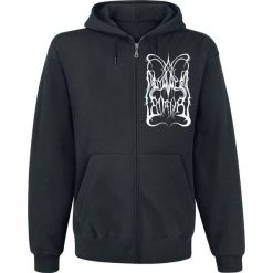 Bejsbolówki męskie: Dimmu Borgir Retro Logo Bluza z kapturem rozpinana czarny