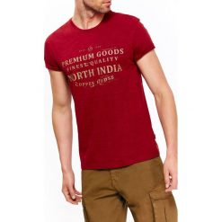 T-shirty męskie: T-SHIRT MĘSKI Z DZIANINY SLUB Z NADRUKIEM