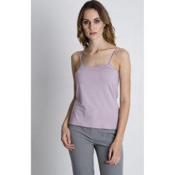 Bluzki damskie: Różowa bluzka na ramiączkach BIALCON