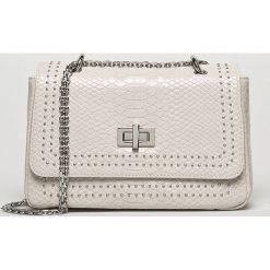 Morgan - Torebka. Szare torebki klasyczne damskie marki Morgan, w paski, z materiału, małe. W wyprzedaży za 199,90 zł.