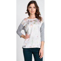 Bluzki damskie: Satynowa bluzka w kwiaty QUIOSQUE