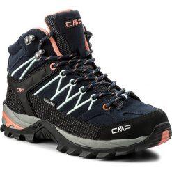 Trekkingi CMP - Rigel Mid Wmn Trekking Shoes Wp 3Q12946  B. Blue/Giada/Peach 92AD. Niebieskie buty trekkingowe damskie CMP. W wyprzedaży za 279,00 zł.