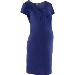 Koszula nocna ciążowa i do karmienia bonprix kobaltowy. Niebieskie bielizna ciążowa bonprix, z bawełny, moda ciążowa. Za 44,99 zł.