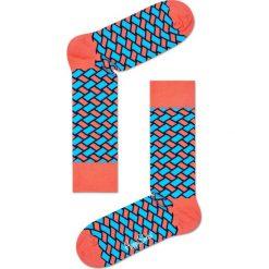 Happy Socks - Skarpetki Basket. Różowe skarpetki damskie Happy Socks, z bawełny. W wyprzedaży za 29,90 zł.