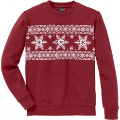 Bluza Regular Fit bonprix ciemnoczerwono-biały. Czerwone bluzy męskie rozpinane marki KALENJI, m, z elastanu, z długim rękawem, długie. Za 74,99 zł.