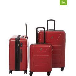 Walizki: Walizki (3 szt.) w kolorze czerwonym