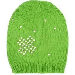 Czapka damska  beanie Złoty krzyżyk zielona. Zielone czapki zimowe damskie Art of Polo. Za 36,52 zł.