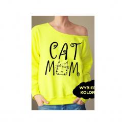 S-xxl wybierz kolory cat mom bluza z. Czerwone bluzy z nadrukiem damskie marki One mug a day, s. Za 149,00 zł.