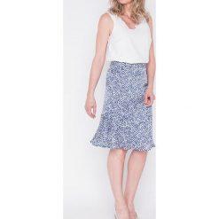 Spódnice wieczorowe: Spódnica w kolorze biało-niebieskim