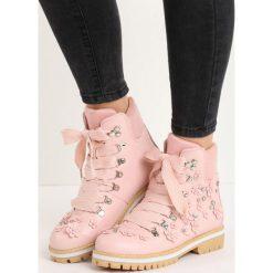 Buty zimowe damskie: Różowe Traperki Autumn Foliage