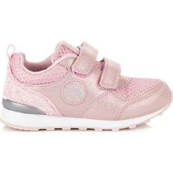 Buciki niemowlęce chłopięce: American Club Buty dziecięce z brokatem CHERRY różowe r. 29 (75110)