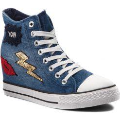 Sneakersy NYLON RED - WSJGH02-2 Niebieski. Niebieskie sneakersy damskie Nylon Red, z gumy. Za 79,99 zł.