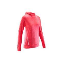 Bluza do biegania RUN WARM HOOD damska. Czerwone bluzy damskie marki KALENJI, z elastanu. Za 69,99 zł.
