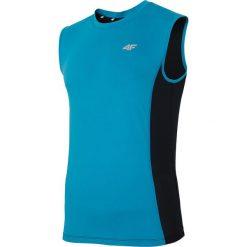 Męska koszulka sportowa 4F Dry Control Blue. Niebieskie koszulki sportowe męskie marki Astratex, m, z materiału, bez rękawów, do biegania. Za 62,00 zł.