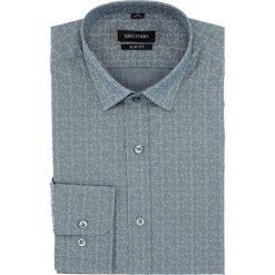 Koszula versone 5007a długi rękaw slim fit szary. Szare koszule męskie slim Recman, m, z długim rękawem. Za 149,00 zł.