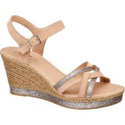 Rzymianki damskie: sandały damskie 5th Avenue beżowe