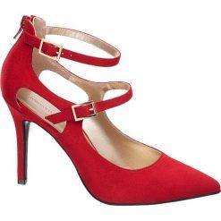 Szpilki damskie Catwalk czerwone. Czerwone szpilki Catwalk, z materiału. Za 119,90 zł.