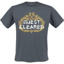 T-shirty męskie z nadrukiem: Monster Hunter World - Quest Cleared T-Shirt szaro-niebieski