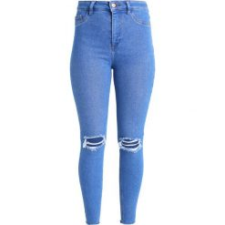 New Look DISCO RIPPED Jeans Skinny Fit bright. Czarne jeansy damskie marki New Look, z materiału, na obcasie. Za 169,00 zł.