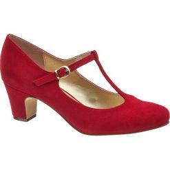 Buty ślubne damskie: czółenka damskie Graceland czerwone